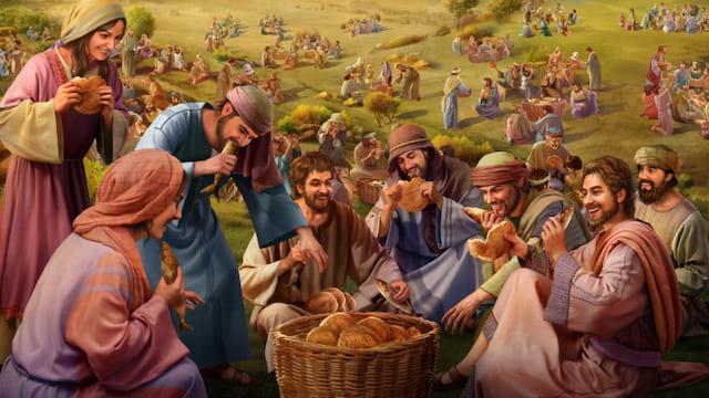"""Pensamientos real de Jesucristo detrás de """"Cinco panes y dos peces"""""""
