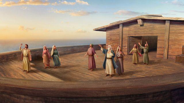 La bendición de Dios a Noé después del diluvio
