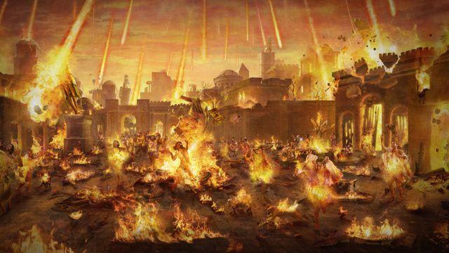 Sodoma es reducida a cenizas por provocar la ira de Dios