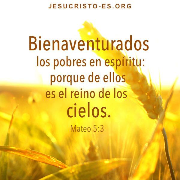 Versículos Bíblicos Mateo 5:3