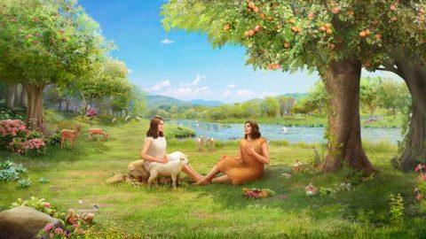 adan y eva en el jardin del eden
