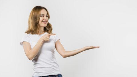camisetas de algodon mujer