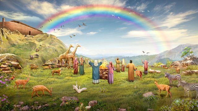 arcoiris biblia,Carácter bíblico de la familia de Noé.