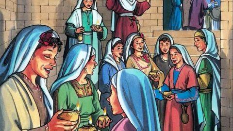 Las vírgenes sabias escuchan la voz del Señor y lo reciben