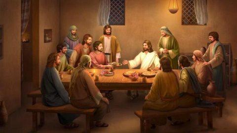 Jesús come pan y explica las Escrituras después de Su resurrección